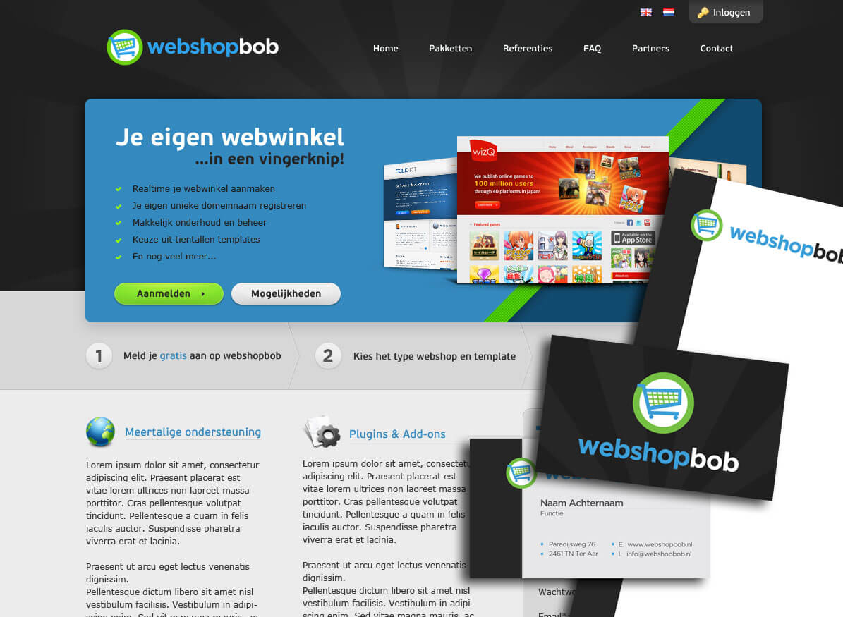 Webshopbob layout